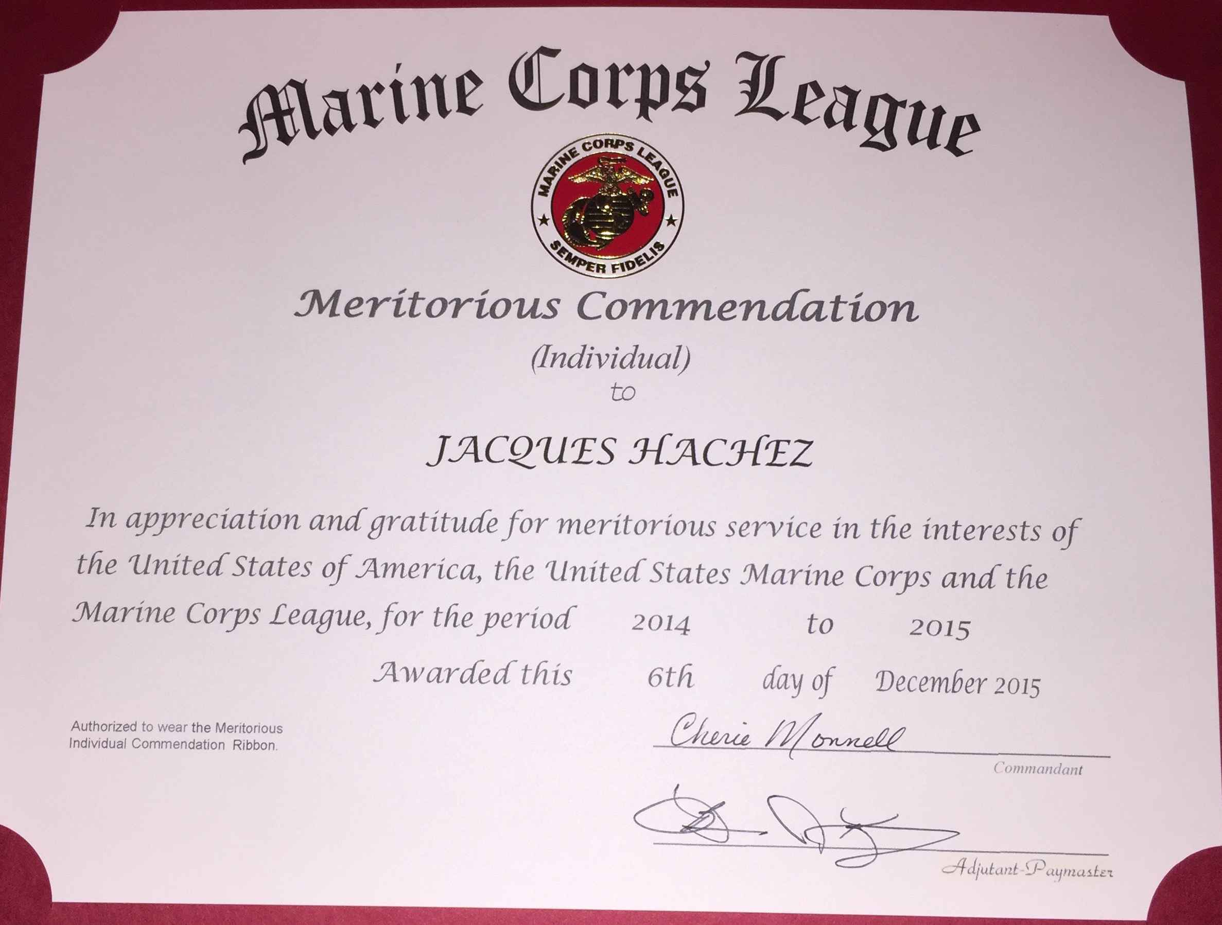 Gary S Dillon Marine Corps League Marines Serving Merrimack County